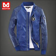 blue motorcycle jacket spring stitching leather motorcycle jacket male skeleton slim blue