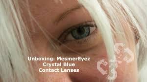 unboxing mesmereyez crystal blue contact lenses