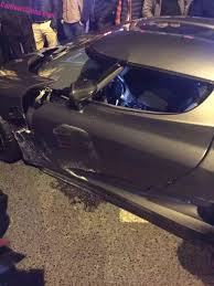 p1 crash ultra rare koenigsegg agera r damaged in chinese crash