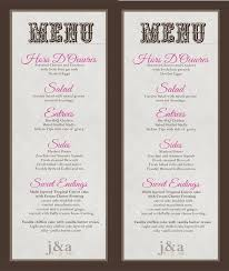diy wedding menu cards 11 best photos of buffet menu card template diy wedding buffet