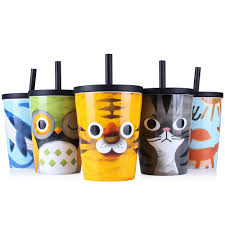 wholesale upstyle big capacity ceramic cup animal pattern