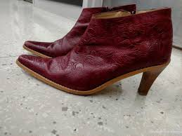 zara womens boots sale womens boots ankle boots by zara burgundy embossed leather with