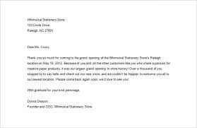 thank you for your business letters letter template