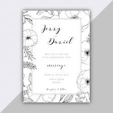 Wedding Invitation Samples Hand Drawn Floral Wedding Invitation Template Vector Free Download