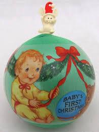 hallmark 1985 baby u0027s first christmas ornament satin baby keepsake
