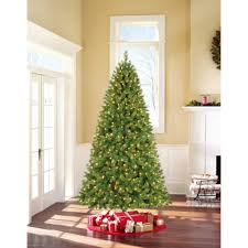 ge pre lit 7 u0027 white winterberry artificial christmas tree dual