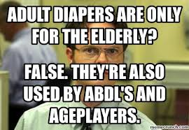 Adult Diaper Meme - diapers