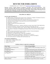 resume summaries samples business intelligence resume resume cover letter template business intelligence resume