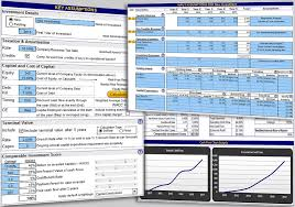 Discounted Flow Analysis Excel Template Investment And Business Valuation Evaluating A Wide Range Of