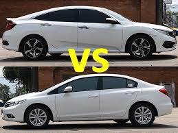 2016 honda civic vs 2014 honda civic comparison youtube