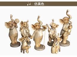 creative elephant sculpture ornaments home living room
