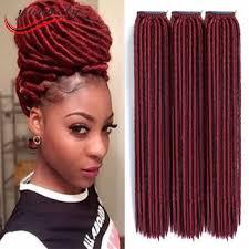 soft dred hair cheap soft dread lock synthetic braiding hair dreadlocks faux locs