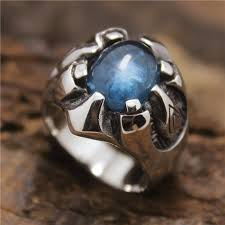 blue steel rings images Size 8 13 new design stainless steel fashion men 39 s sharp claws jpg
