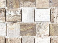 Travertine Fireplace Tile by Rock A Fireplace Surround With Linker Travertine Mosaic Stone Tile