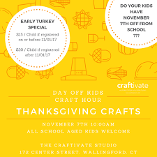 day thanksgiving craft hour
