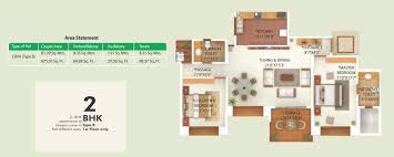 2bhk Plan 2 Bhk And 3 Bhk Floor Plans Of Greens Pune