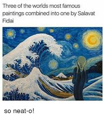 the most famous paintings three of the worlds most famous paintings combined into one by