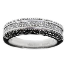 black diamond wedding band wedding band princess diamonds pave black diamonds