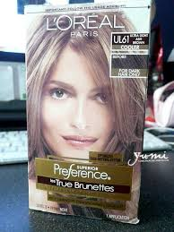 hair color for dark hair to light yumiko s blog loreal les true brunettes ul61 ultra light ash brown