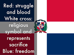 White Cross On Red Flag Dominican Republic By Alexis Marleah