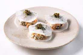 mooli and smoked salmon gluten free canapé recipe great chefs