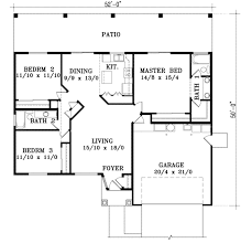 Adobe Style Home Plans 1200 Square Foot House Plans Ranch 2 1248 Feet Luxihome