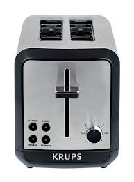 Next Toaster Savoy 2 Slice Black And Stainless Steel Toaster Krups