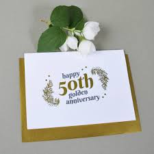 50th wedding anniversary personalised with gold 50th wedding anniversary gift by ant design