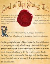 seal of the living god information and leaflet of