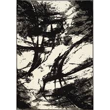 8x11 Area Rugs City Furniture Abstract Black 8x11 Area Rug