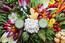 vegan green dressing crudités
