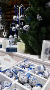 kurt adler 3 4 5 porcelain delft blue ornament set of 3 blue