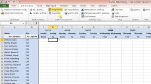 Employee Schedule Template Excel Labor Scheduling Template For Excel Call Center Version Overview