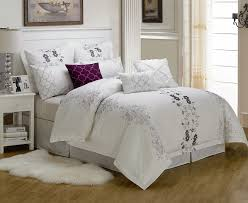 Unique Bed Comforter Sets Bedroom King Bedding Sets With Cool Black White Dotted Comforter