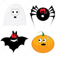 cartoon halloween images cartoon halloween icon set u2014 stock vector lillllia 1691801