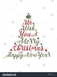 we wish you merry happy stock vector 529237972