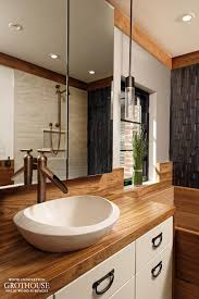 All Wood Vanity For Bathroom by Custom Teak Wood Vanity Top For A Bathroom In Washington Dc