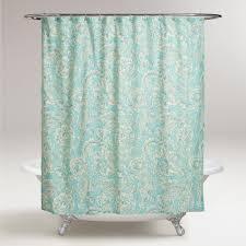 Modcloth Shower Curtain Aqua Floral Adelaide Shower Curtain Aqua Cedar Houses And