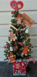 gingerbread tree tabletop tree tree decorated tree