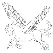 free printable pegasus coloring pages for kids within horse