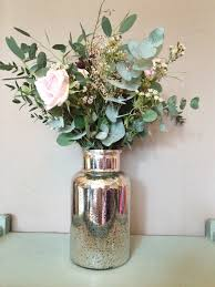 large silver mercury glass vase heavenlyhomesandgardens co uk