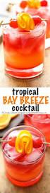 tropical bay breeze cocktail recipe coconut rum easy tricks