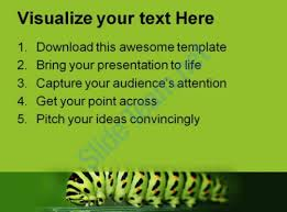 caterpillar animals powerpoint templates and powerpoint