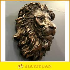 lion heads for sale wholesale resin wall animal sculpture of bronze lion