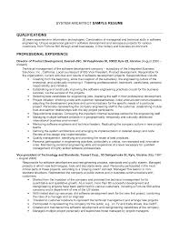 Solution Architect Sample Resume by Architect Resume Canada Virtren Com