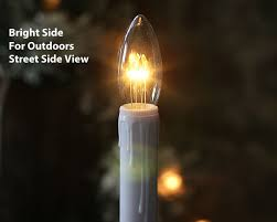 fresh led window lights decorative with timer candle white