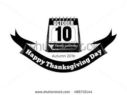 calendar november 26 thanksgiving day vector stock vector