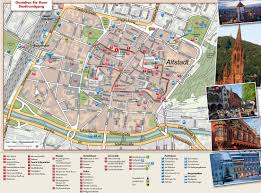 map of freiburg freiburg tourist attractions map