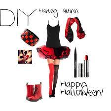 Halloween Jester Costume Diy Harley Quinn Halloween Polyvore