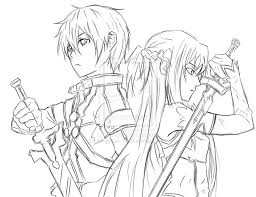 asuna coloring pages coloring